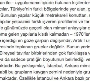2000'e girerken Türkiye'de mimarlık