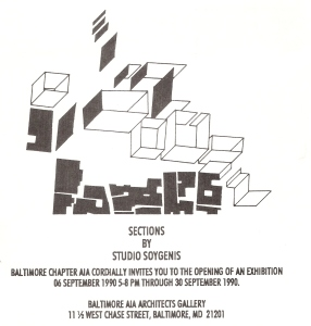 Sections - exhibition , AIA Baltimore 1990