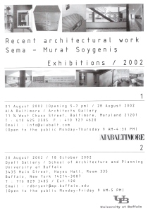 Recent architectural work, Exhibitions 2002