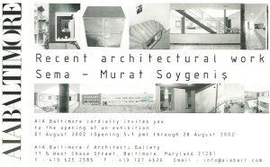 Baltimore AIA Exhibition Invitation 2002